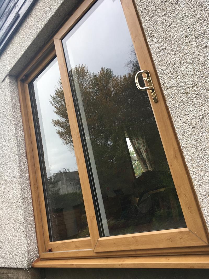 Oak UPVC Patio Doors