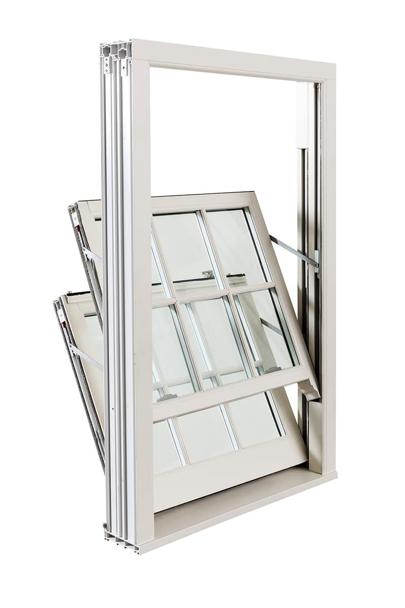 White UPVC Sash & Case Window